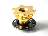Universal Golden Dexterous Quick Adapter, Racing Steering Wheel Bottom , Quick Release-Car Styling