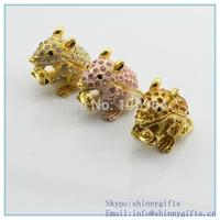 Small  Mouse Shape Decorative Jewerly Box /mouse trinket boxs