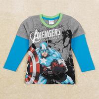 Boy's t shirt Nova brand new fashion cartoon t-shirts for children boy 100% cotton long sleeve roupas meninos A5345
