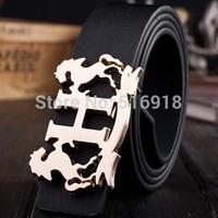 Hot Sale New Design Famous Brand Luxury Belt Women Men Belts Male Waist Strap Alloy Leopard Buckle Cinto Masculino Marca Famosa