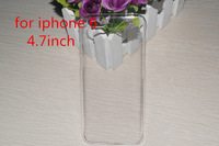 300Pcs/Lot For iPhone6 4.7inch Transparent Case Hard Plastic Crystal Clear Luxury Protective Cover Phone Cases For iPhone 6