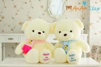 New Cute Stuffed Animal Doll 31'' 80cm Big Nice Plush Scarf Teddy Bear Soft Toy Good Quality Hold Pillow Birthday Christmas Gift