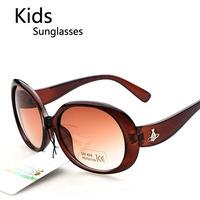 Wholesale Fashion Vintage Children Plastic Sunglasses Boys Kids UV400 Protection Goggles Free Shipping