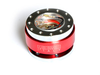 Universal Red MOMO Quick Release, Racing Steering Wheel Quick Release,Steering Wheel Adapter-Car Styling