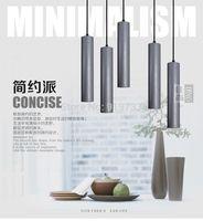 Scandinavia nordic brief resin cement like led pendant light restaurant lamp bar lamp