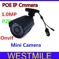 Mini POE IP Camera  1.0MP  720P 3.6MM day/night IR onvif  HD  camera with P2P Free shipping