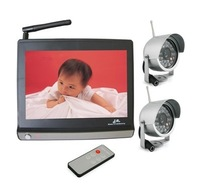 "2014 New  Wireless Baby Monitor with 7"" display screen,    with built-in microphone, IR camera ,remote control"