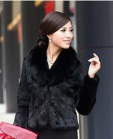 2014 faux women's fight mink fox fur short design faux rex rabbit fur coat the women's coats the fur the coat rex rabbit