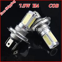 Free Shipping 2pcs/lot H4 7.5W High power car LED Fog Lamps Crystal Blue/White/ Warm white/Yellow