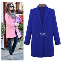 2014 New Winter Women Woolen Trench Outwear Brand Slim Single Button Long Wool Cashmere Coat High Quality Casacos Femininos