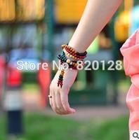 Fashion Bracelet exquisite color 108 kong produce sandalwood bead bracelet colourful kong produce hand string