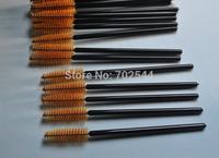 Wholesale Dark brown Disposable Eyelash Brush Mascara Wands Applicator Curls eyelash cock eyelash (20000pcs/lot)