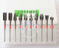 Set 10 Tungsten steel Carbide Burrs For Dremel Rotary Tool Drill Bit