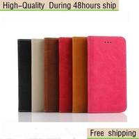 High Quality Retro Crazy Horse Style Leather Flip Case with Card Wallet For iPhone 6 4.7inch Free Shipping UPS DHL CPAM HKPAM