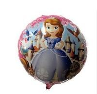 New arrive 50pcs/lots wholesales Princess Sophia balloon Birthday party Printed cartoon balloons Hot Free shipping