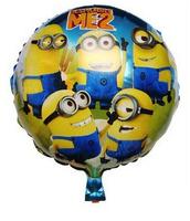 New arrive 20pcs/lots wholesales Minions balloon Birthday party Printed cartoon balloons Hot Free shipping