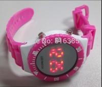 2014 Brand NEW Children Led Digital Watch Boys Girls PU Plastics Strap Health Watches Fashion Square Dial Wristwatch