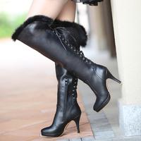 HOT Free shipping new women boots  beautiful fashion 2014 new winter high-heeled knee boots  women boots