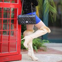 Free shipping new women boots beautiful fashion 2014 new winter high-heeled knee boots women boots