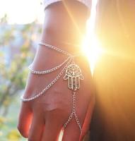Europe and American the jewelry trade street beat the same fashion personality Bergamot tassel chain bracelet