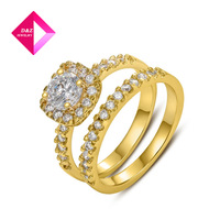 D&Z Italina Rigant Fashion Jewelry Imitation Diamond Rings Champagne Gold or Platinum Plated,ring series