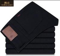 2014 new arrival autumn winter famous brand men's fashion casual slim fit black cotton straight jeans pants 29-38 size Wholesale