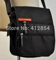 G Male Man black strap canvas shoulder small bag A10
