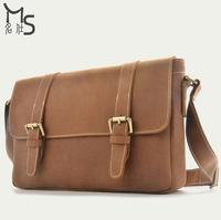 Guarantee 100% Genuine leather New Senior Crazy horsehide Messenger Bag Men and Women Fashion shoulder bag