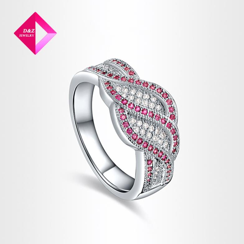 D Z brand Wholesales Hot New Design Fashion Simple Simulated multiple Diamond Rings Jewelry ring series
