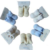Free Shipping Lovely Cartoon Baby Socks Bear pattern Slipper Shoes Newborn to 1 year Autumn Winter Infant Gift