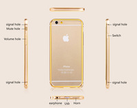New Luxury Ultra thin Metal Aluminum Frame Bumper Case For iPhone 6 4.7 inch Slim Shockproof Cell Phone Mobile Protect Case
