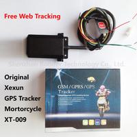 Xexun xt-009 Waterproof Motorcycle GPS Tracker Quad band Cut OFF Oil / Power SOS FREE Web Tracking system Rastreador Moto xt009