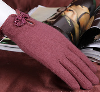 New hot sale Fashion thin wool gloves lady warm autumn and winter riding short cashmere women girl gloves ( five colors choose)