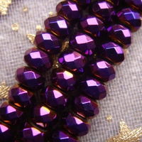 2014 New Free Shipping AAA 4x3mm violet Hematite Rondelle Loose Beads 136pcs/lot Wholesale