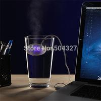 Free Shipping 1Piece USB Gadget Vap0rb USB Ultrasonic Humidifier Doughnut-shaped USB-powered humidifier