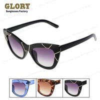 Big Frame Cateye Sunglasses Women Gold Metal Line Famous Brand Desinger Oculos De Sol Fashion Vintage Female Sun glass Gafas