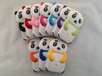Super Cute Silicone Panda Case for Iphone 6 4.7 inch Panda Silicon Back Cover Rubber Phone Case 10 Colors