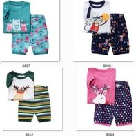 Children's Christmas Short Sleeve Pajamas2 pcs set new pyjamas 2014 brand babys cotton sleepwear  -ZQZ282C