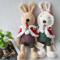 2pcs 28cm FREE SHIPPING Christmas Doll Gift Cute le sucre Rabbit Plush Toy For Children Wedding Souvenir Bunny Stuffed Animal
