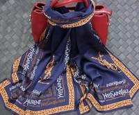 100% Silk Scarf 2014 NEW Spring Autumn Mulberry Silk Scarves Shawl Fashion Women Letter Scarf Silk Scarf 175*65CM Top Quality
