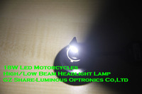 2014 High Quality 18W Led High Low Beam Headlight Lamp for Motorcycles With 2000lm 6000K IP65 Free Shipping