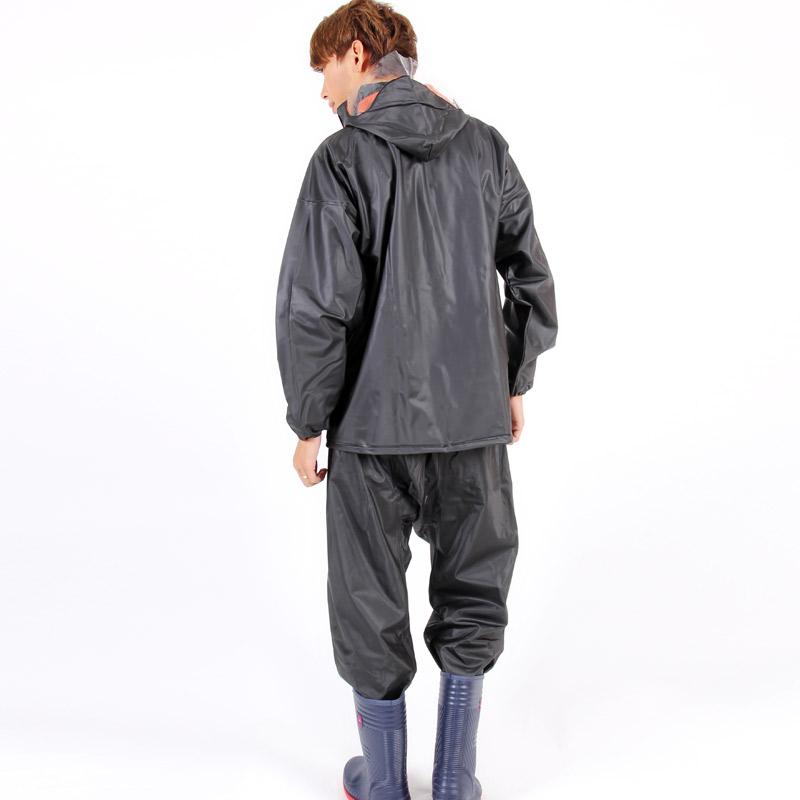 Более велоспорт плащ дождь брючный костюм водонепроницаемый и деления плащ внутри и за пределами двойного цвет пакет почты