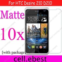 For HTC Desire 210 D210, Anti Glare Matte / non fingerprint film guard screen protector,10pcs/lot,high quality