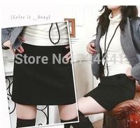 2014 Women Autumn Winter Woolen Skirts Plus Size Ladies Fashion A-line Skirts Sexy High Waist Knee-Length Skirt Business Skirts