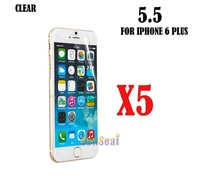 """5pcs Clear Screen Protector Cover, Front Screen Protector Film for Iphone 6 Plus 5.5"""" Without Retail Package"""