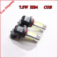 Free Shipping 2pcs/lot HB4 7.5W High power Car LED Fog Lamp Automobile Light Bulbs Wedge