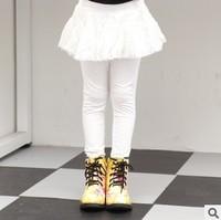 new 2014 children girl autumn winter white green solid tulle tutu skirt leggings kids girls fashion casual 5 pcs/lot clothes