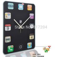 Creative Acrylic Ipad shaped Wall clock Home decorations DIY clock Free shipping 017