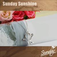 Hot sales!30% s925 silver Plus 70% import copper-nickel alloy cat pendant necklace
