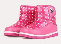 The new winter 2014 children cotton shoes cuhk girls princess baby  warm snow boots children's girls boots size 26-35